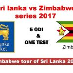 Sri lanka Vs Zimbabwe ONE Test  2017:07:14  09:30AM