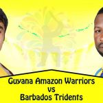 Barbados Tridents VS Guyana Amazon Warriors 29 08 17 03:00AM