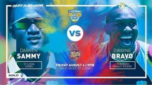 Trinbago Knight Riders VS St Lucia Stars 08 08 17 04:30AM