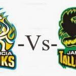 ST LUCIA STARS VS JAMAICA TALLAWAHS 15 08 17 03:00pm