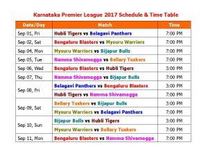 Belagavi Panthers VS Bengaluru Blasters 08 09 17 02:30PM