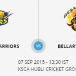Bellary Tuskers  VS   Mysuru Warriors 10 09 17 06:40PM