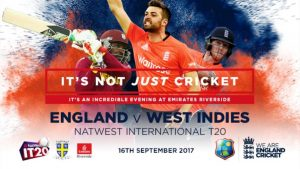 ENGLAND VS WEST INDIES T20 16 09 2017 10:30PM