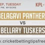 Belagavi Panthers vs Bellary Tuskers 12 09 17 06:45pm