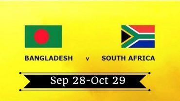 28 09 2017 01:00PM South Africa VS Bangladesh