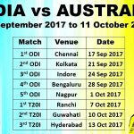 Australia tour of India 3odi Sep 24 2017 01:00pm