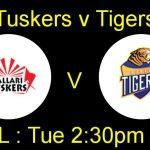 Bellary Tuskers  VS  Hubli Tigers  19 09 17 06:45PM