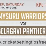 Belagavi Panthers VS  Mysuru Warriors 09 09 17 06:45PM