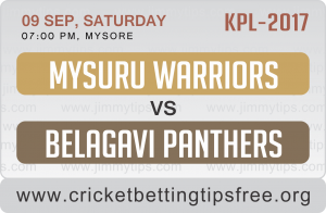 Belagavi Panthers VS Mysuru Warriors 09 09 17 06:45PM