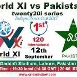 Pakistan vs World XI, 1st T20 12 09 17 09:15PM