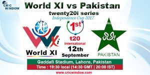 Pakistan vs World XI, 1st T20 12 09 17 09:15PM